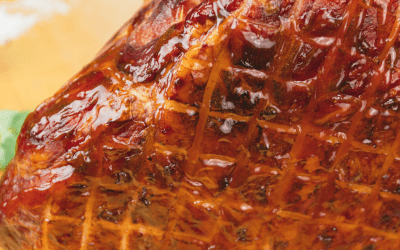 Glazed Homemade Old-Fashioned Smoked Ham